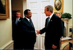 President of Cameroon, Paul Biya and US President George W. Bush (Whitehouse Photo)