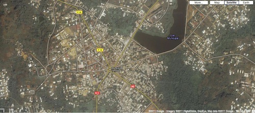 Map of Ebolowa  - Satellite map of city of  Ebolowa Cameroon