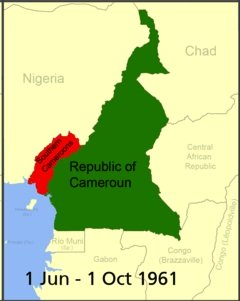 Cameroon Map 1 June to 1 October 1961